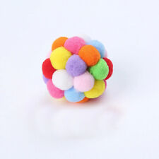 New listing New Pet Multi Color Plush Bell Cat Toy Play Ball Increases Feeling Affection