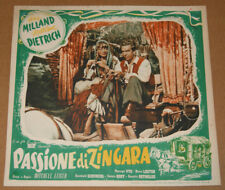 fotobusta film PASSIONE DI ZINGARA- GOLDEN EARRINGS Marlene Dietrich Ray Milland