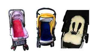 Lambskin Baby Sheepskin Stroller Liner Pram/Seat Cover pram in choice of colours