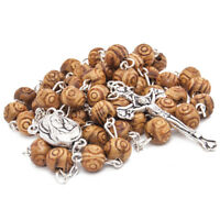 Olive wood Handmade Rosary beads Prayer Knot with Holy Soil from Jerusalem 21""
