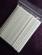 "4.5"" WHITE SOLID PLASTIC LOLLIPOP CAKE POP LOLLY STICKS-choose your quantity"