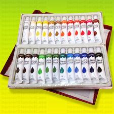 24 Pc Acrylic Paint Set Professional Artist Color Painting 12ml Tubes