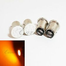 1157 4x Yellow COB 12 Chips LED Bulb #U23 P21/5W BAY15d Front Turn Signal Light