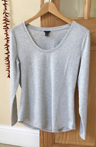 Ann Taylor Silver Grey Shimmer Long-Sleeved Top. Size M. New no Tags - Pristine!