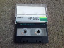 USATO Sony HF-S 90 Audio Cassette a nastro utilizzati una sola volta