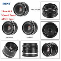 Meike 25mm f1.8 Large Aperture Manual Focus APS-C Lens Fixed Lens for Sony Mount