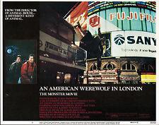 AN AMERICAN WEREWOLF IN LONDON orig lobby card JOHN LANDIS 11x14 movie poster
