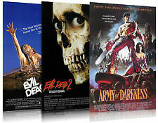 The Evil Dead Trilogy - Movie Poster Set (Evil Dead I, Ii & Army Of Darkness)