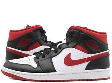 Nike Air Jordan 1 Mid Metallic Gym Red Black White 554724-122 Men's GS Sizes