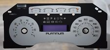 2010 -FORD F150 PLATINUM GAUGE OVERLAY/ FACEPLATE  KM/ H