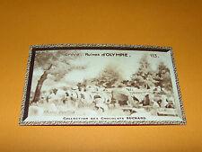CHROMO PHOTO CHOCOLAT SUCHARD 1934 EUROPE GRECE HELLAS RUINES D'OLYMPIE