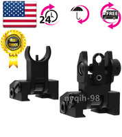 US Front&Rear Micro Flip Up Low Profile Iron Sight Set Rapid Transition Hunting