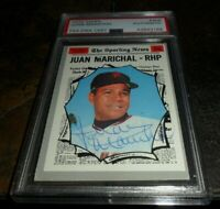 1970 SIGNED Topps #466 JUAN MARICHAL AUTO SAN FRANCISCO GIANTS PSA/DNA