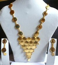 Goddess Ginni Coin Rani haar Long Ethnic Bridal Necklace Earrings Jrerlry Set