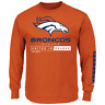 Majestic Men's NFL Primary Receiver Long-Sleeved Tee Broncos XL #NIO26-388