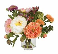 Nearly Natural 4689 Peony Silk Arrangement- Assorted
