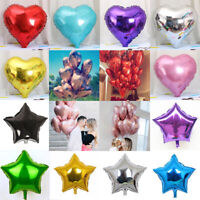 "5pcs 18"" Love Heart Five-pointed Star Foil Helium Balloons Wedding/Dating/Party"