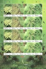 Fern Of Malaysia 2010 Flower Plant Flora (stamp sheet) MNH