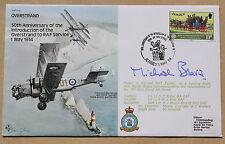 RAF B20 50TH ANNIV OVERSTARND 1984 COVER SIGNED AIR CHF MSHL SIE MICHAEL BEAVIS