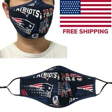 New England Patriots NFL Football Quality Fabric Face Mask  Cotton Cloth USA