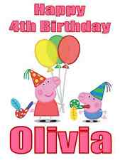 "Peppa Pig Birthday Iron On Transfer, 4.5""x6.5"",  for LIGHT Colored Fabric"