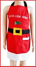 Santa's Little Helper CHRISTMAS APRON Chef Cook Home Party Gift Suit Child NEW