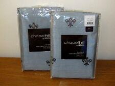 Croscill Chapel Hill Lisa Fleur de Lis Mineral Blue Drapery Panels   2   NIP