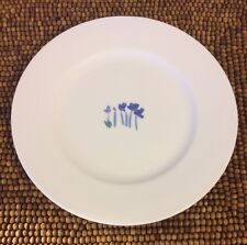 """Crate & Barrel ANNA'S ARTISTRY Germany Bone China Blue Flowers SALAD PLATE 8"""""""