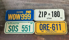Vintage 1979 Post Cereal Mini Bicycle License Plate ~4 WESTERN ~ US States