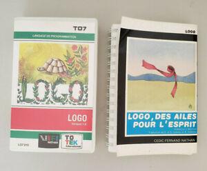 Cartouche LOGO + Livre des ailes pour l'esprit Thomson TO7 TO8 TO9
