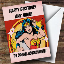 Original Wonder Woman Personalised Birthday Greetings Card