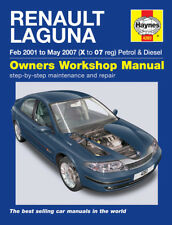 H4283 Renault Laguna Petrol & Diesel (Feb 2001 to May 2007) Haynes Repair Manual