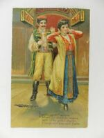 Vintage 1908 Posted Postcard Merry Widow Maxim Arabian Couple Printed Germany