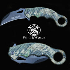Reisemesser Knife Smith & WESSON Extreme OPS CAMO Karambit 440 C Liner-Lock