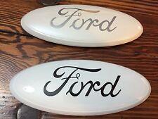 "9"" FORD""WHITE""F-150 Tailgate OR Grille Emblem,STICK ON,CUSTOM PAINT,OEM DEALER"