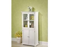 "Home Decorators Hampton Harbor 25"" x 14"" D x 52.5"" H Linen Storage Cabinet White"