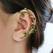 High Quality Bronze Dolphins Clip on Ear Cuff Earring