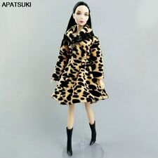 "Leopard Winter Fur Coat for 11.5"" Doll Outfits Clothes for 1/6 BJD Accessories"