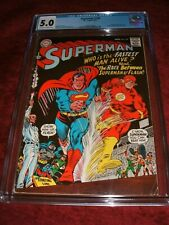 SUPERMAN 199 CGC 5.0 OW/WHITE PAGES 1ST SUPERMAN VS FLASH RACE KEY ISSUE