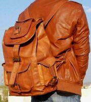 Men's Leather Backpack Bag Rucksack Messenger Laptop Satchel Genuine Vintage