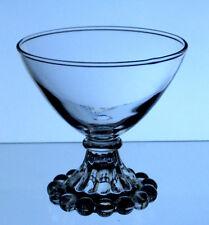 ANCHOR HOCKING clear glass BOOPIE BERWICK Candlewick style SHERBET DISH U.S.A.