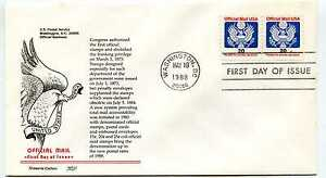 O138B 20 cent Official Aristocrat Cachets, pair, FDC