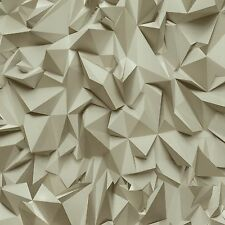 Vliestapete Design modern beige creme glänzend Tapeten P+S Times 42097-30 (2,49€