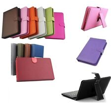 PU Leather Keyboard Stand Case Cover for For Alba 7 Inch 16GB Tablet