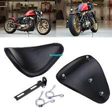 Solo Sitz + Sitzfedern + Halteschiene  Für Harley Honda Suzuki Bobber Chopper