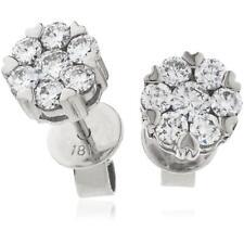 0.45ct F VS Diamond Daisy Earrings in 18ct White Gold