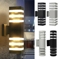 Waterproof LED Up Down Wall Light Sconce Dual Head Lamp Lighting Fixture Outdoor
