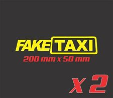 2x FAKE TAXI Sticker Decals Funny JDM Drift Turbo Hoon Race Car Decal Fake Taxi