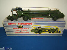 Dinky Supertoys Modelo No.666 misil Erector & Corporal lanzamisiles VN MIB