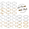 32Pcs 20G Surgical Steel Nose Rings Hoop Tragus Cartilage Helix Ring Piercing